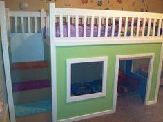 Bunk beds for kids- Ryan you could so make this out of the bunk beds we have!!!