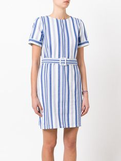 A.P.C. striped belted dress