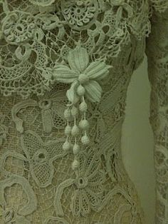 From The Sheelin Irish Lace Museum  In white this would be the most beautiful wedding dress ever!