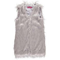 Boohoo Loise Shaggy Faux Fur Gilet (€39) ❤ liked on Polyvore featuring outerwear, vests, faux fur gilet, faux fur vest and fake fur vest
