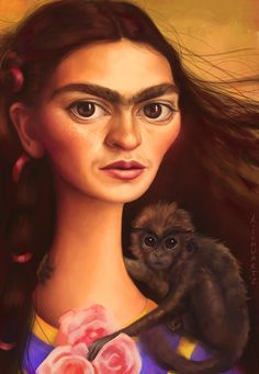 Frida Kahlo Art Print by MudsplashStudios Diego Rivera, Frida E Diego, Frida Art, Celebrity Caricatures, Mexican Artists, Oeuvre D'art, Great Artists, Illustration Art, Art Prints