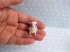 Spielzeug SCHÄFCHEN Toy für RealPuki BJD Puppe OOAK  3,1 cm miniatur Handmade for Real Puki Pukifee doll Fairyland von NiceMiniThings auf Etsy