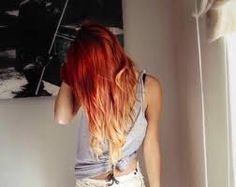 Image result for bright red ombre hair