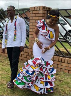 Ndebele inspired wedding dress #colour #traditionalafricanfashion
