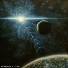 Latest space mat #ffg #fantasyflight #fantasyflightgames #starwars # xwingrepaints #BFG #space #spacemat #spaceart