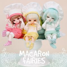 [IMG] [IMG] [IMG] Lion Bros, Macaron Fairies and Ice Cream Children are re-released. Ooak Dolls, Blythe Dolls, Angel Pictures, Doll Painting, Doll Repaint, Cosplay, Kawaii Cute, Ball Jointed Dolls, Cute Dolls