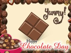 Share this ecard with your special someone on Chocolate Day. Free online I Love Chocolate Day ecards on Chocolate Day Chocolate Card, I Love Chocolate, Wife Jokes, Happy Day, Background Images, Special Day, Ecards, Gifs, Valentines