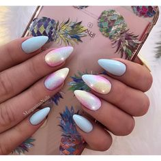 Unicorn baby blue almond nails Easter nail art glitter design Spring summer nails #nails#stilettonails#nailart#MargaritasNailz#vetrogel#nailfashion#naildesign#nailswag#glitternails#glamnails#nailedit#nailcandy#mattenails#ombrenails#nailsofinstagram#nailaddict#instagramnails#nailsoftheday#nailporn#nailpro#naildesigns#springnails#vetrousa#nailartist#nailsonfleek#dopenails#unicornnails#glitterombre#silverglitter#babybluenails