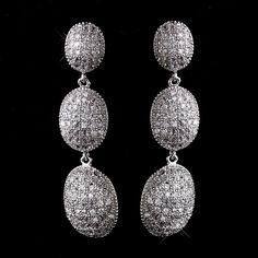 Couture CZ Crystal Drop Wedding and Formal Earrings - Affordable Elegance Bridal -