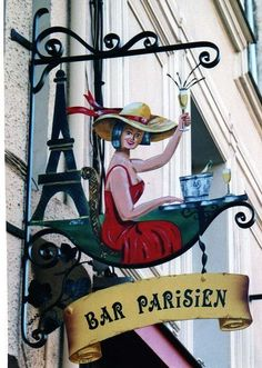 Beautiful signs in Paris. Can we not learn this European craft elsewhere? Retro, Storefront Signs, Pub Signs, I Love Paris, Shop Fronts, Business Signs, Advertising Signs, Store Signs, Hanging Signs