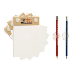 Aqua LoveNotes Notepad 3 Pack white, stationery.