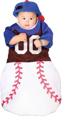 About Costume Shop Home Run Bunting Infant Costume - Home Run Bunting Infant CostumeHome Run Baby! Costume includes: Baseball style bunting with matching ball cap.Available Sizes: One size fits most infantsProduct Page Piglet Halloween Costume, Buy Halloween Costumes, Unique Couple Halloween Costumes, Costumes For Teens, Baby Costumes, Adult Costumes, Funny Halloween, Halloween Ideas, Baseball Costumes