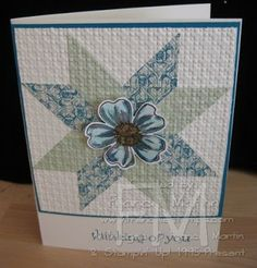Stamp & Scrap with Frenchie: Quilt Star card video. Great site with lots of videos and ideas.....