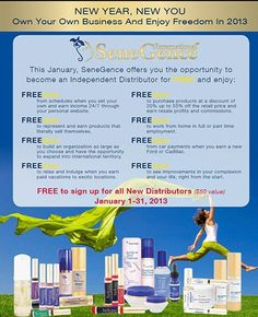 This January, signing up to become a SeneGence Independent Distributor is FREE! Www.senegence.com/face2face