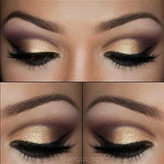Dourado, marrom e preto.
