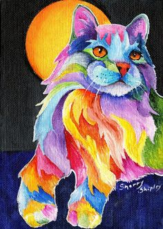 Tutti Fruiti Kitty Painting by Sherry Shipley - Tutti Fruiti Kitty Fine Art Prints and Posters for Sale: