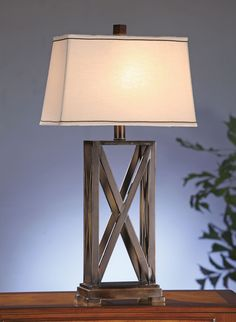 Everson Table Lamp Metal Criss-Cross Table Lamp In Rich Bronze Finish X X Rectangle Natural Linen Shade W/Brown Cord Trim) Ma X Wattage Bulb Ht.Features: Dimension: X X 10 in. Shipping Weight: lbs Material: Resin&Metal Bulb Type: Type A Wattage: Transitional Table Lamps, Rustic Furniture Stores, Watts Up, Crestview Collection, Bedside Table Lamps, Boho Living Room, Metal Finishes, Bronze Finish, Wall Sconces