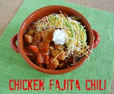 Chicken Fajita Chili on 3 Boys and a Dog --- UltimateTailgating Party Easy Chili Recipe: Chicken Fajita Chili