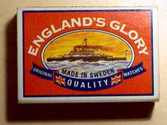 England's Glory Matches - Made in Sweden!