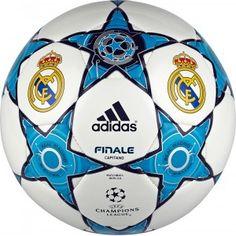 Balón de Futbol Real Madrid Finale 12 Capitano Balón cosido a máquina que te asegura un gran toque y durabilidad. Luce gráficos del Real Madrid y Logotipo de la Champion League