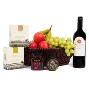 Deluxe Wine and Cheese Basket