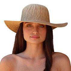 6e66e033120 Palms   Sand Moorea Women s Large Brim Sun Hat (Natural) at Amazon Womens  Clothing store