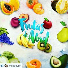 #Repost @mdagovbr ・・・ Abril começou e vem trazendo muitas delícias! Esse é o mês do abacate, ameixa, banana-maçã, caqui, cidra, jaca, kiwi, maçã, mamão, pera, tangerina e uva. A melhor maneira de consumir os alimentos é aproveitando a época de cada um deles.  #FrutasDeAbril #AgriculturaFamiliar #Orgânicos #Agroecologia #CompreDeQuemProduzPerto #frutas #nutrition #nutriju_