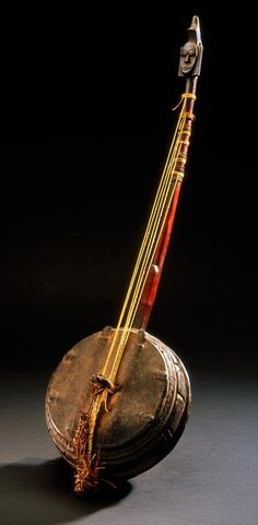 Africa | Harp lute from the Grebo people of Liberia | Wood, string and leather