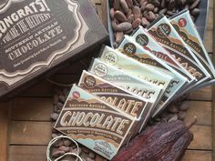 Olive & Sinclair Gift Box. A selection of 8 Southern Artisan ChocolateTM  bars from O&S, snazzed-up and ready for any occasion in an old fashioned letterpress style box.