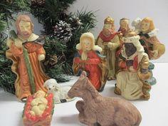 Nativity scene / nativity set / nativity by cgraceandcompany