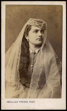 Greek lady from Istanbul. By Abdullah freres, mids 1870s.