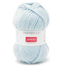Phildar partner 3,5 nr 0007 ciel | Echtstudio Geschikt voor baby