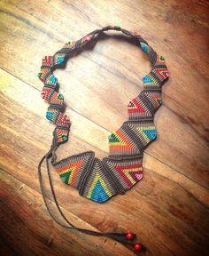 macrame necklace by xrisishop on Etsy