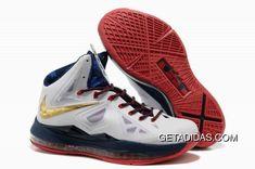 fad9e06f367f Nike Lebron 10 Gold Red White TopDeals
