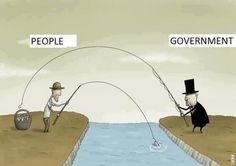 Satire Humor - What ever the people earn the government just takes from them Pictures With Deep Meaning, Digital Foto, Satirical Illustrations, Meaningful Pictures, Frases Humor, Satire Humor, Humor Grafico, Man Vs, Political Cartoons