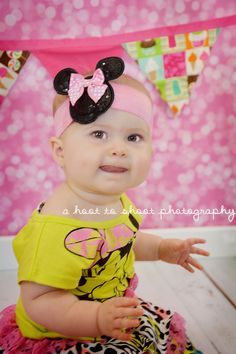 NC Photographer,  Photography,  First Birthday Session, Minnie Mouse , A Hoot to Shoot Photography