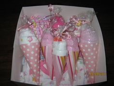 Baby Ice Cream Cones- receiving blankets, onesies, burpclothes, washcloths