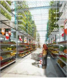Le supermarché du futur - directement du producteur (en haut) au consommateur (en bas)