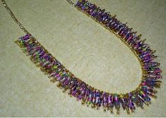 Safety Pin & Seed Bead Necklace