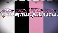 Newly listed! Perfect for the female sports enthusiast that likes to play Volleyball, Softball, Soccer, or Basketball but loves to look pretty to! To Oder go to the direct listing link at Mychristianshirts Etsy store https://www.etsy.com/listing/256957207/i-can-go-from-makeup-to-softball