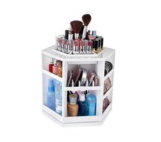 $27.00 Cosmetic Organizer...I don't have a lot of makeup/toiletries...REPURPOSE...kitchen turntable. Store spices, salt/pepper, olive oil...I NEED THIS!!!