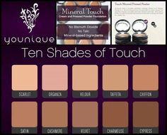 Touch Foundation Younique Foundation Shades, Touch Foundation, Pressed Powder Foundation, Mineral Foundation, Younique Touch, 3d Fiber Lashes, 3d Fiber Lash Mascara, Younique Presenter, Natural
