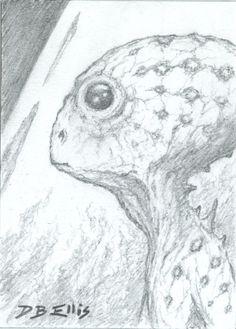 GUILD NAVIGATOR NO 6  original sci fi art, ACEO, Frank Herberts Dune