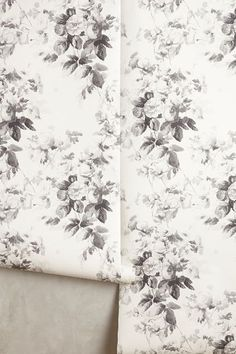 Something similar for the inside of the cabinets! Master art: Smoky Rose Wallpaper - anthropologie.com