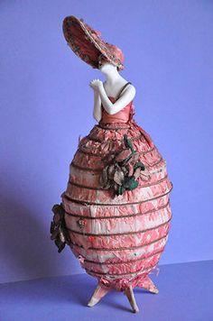 RARE Porcelain Pierrot Candy Container Dresser Powder Box Half Doll Figurine | eBay