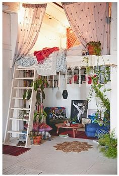 Loft bed w/ a meditation nook!