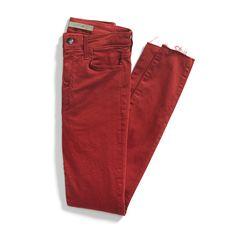 Stitch Fix Fall Stylist Picks: Red Denim - love a colored skinny Jean! Stitch Fix Fall, Stitch Fit, Pop Fashion, Fashion Outfits, Fashion Scarves, 1950s Fashion, Runway Fashion, Casual Outfits, Fashion Jewelry