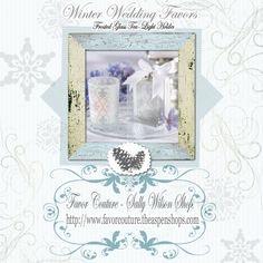 """Frosted Tea Light"" Wedding Favor ""Fleur-de-lis"" Frosted-Glass Tea Light Holder (set of 4)"