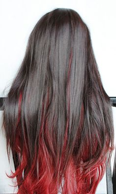 Black and Red Hair <3