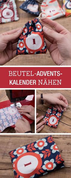 Nähanleitung für einen selbstgemachten Adventskalender / diy sewing tutorial for a fabric advents calendar via DaWanda.com